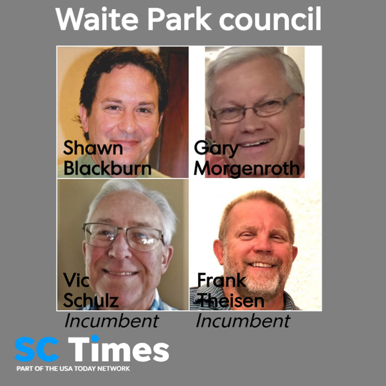 Four men are vying for two City Council seats in Waite Park. They are Shawn Blackburn, Gary Morgenroth, incumbent Vic Schulz and incumbent Frank Theisen.