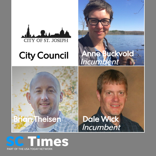 Anne Buckvold, Brian Theisen and Dale Wick are vying for two City Council seats in St. Joseph. Mayor Rick Schultz is running for re-election unopposed.