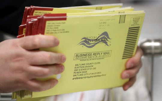 Mail-in ballots in Salt Lake City on Oct. 31, 2018. The outbreak of coronavirus has forced officials to move primary runoffs to March and renewed calls for expanded mail-in voting.