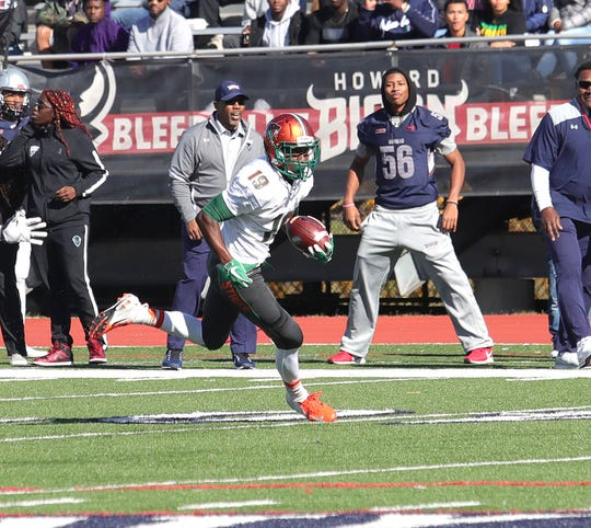 FAMU wide receiver Xavier Smith had six catches for 94 yards and a touchdown versus Howard.