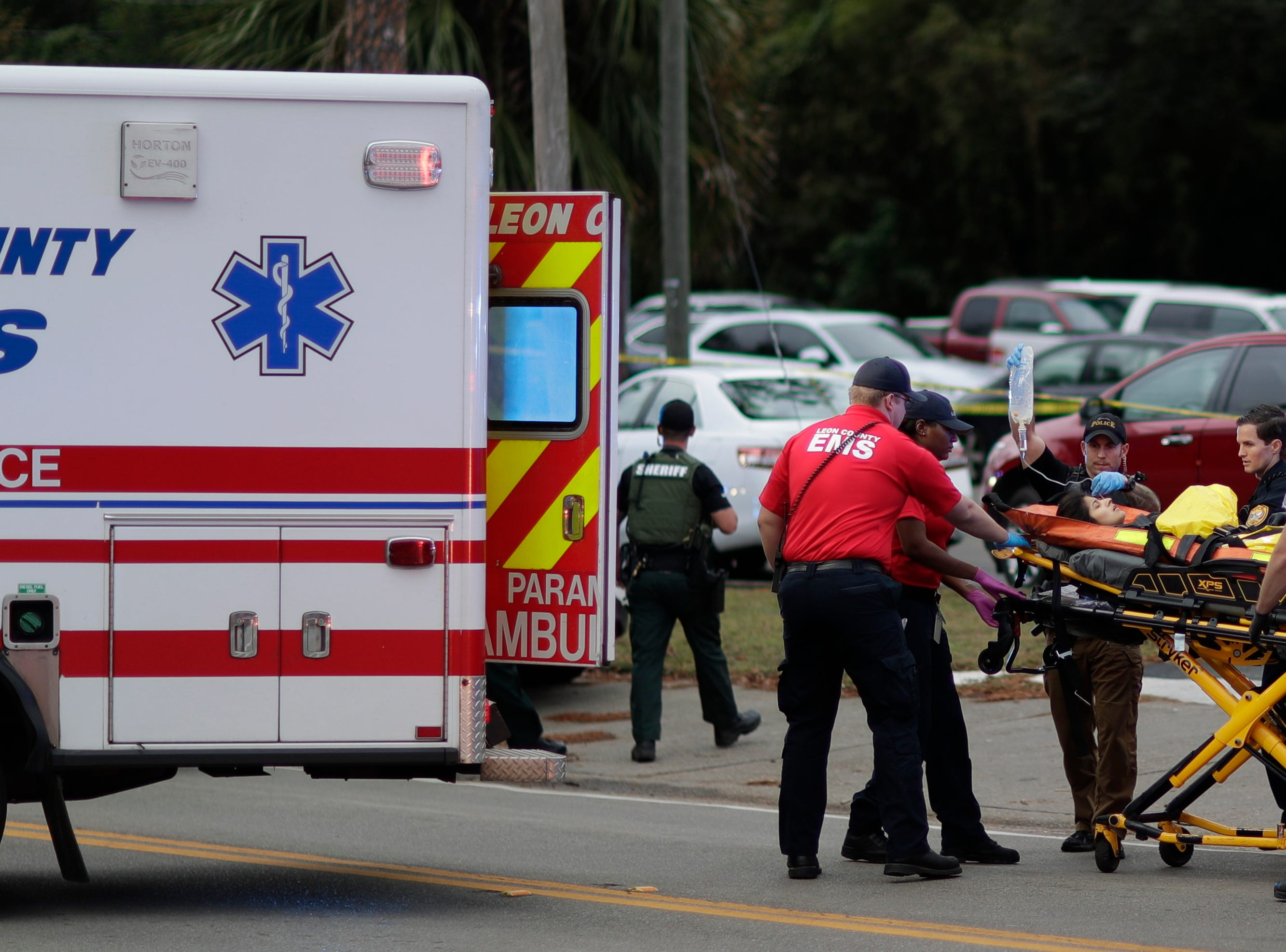 The Tallahassee Police Department is investigating a shooting at Tallahassee HotYoga near the corner of East Bradford and Thomasville roads in Midtown Tallahassee, Fla. Friday, Nov. 2, 2018.