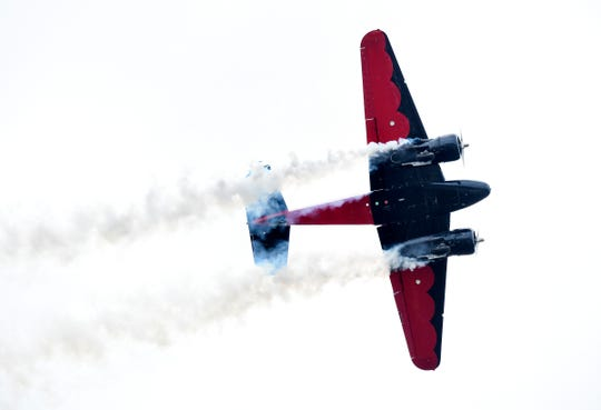 Skilled pilots perform high-flying, death-defying aerobatics Saturday, Nov. 3, 2018, during the Stuart Air Show at Witham Field airport in Stuart. Last year's 30th anniversary show was canceled after a fatal crash involving a Vietnam-era Grumman OV-1 Mohawk during a practice session, followed by bad weather.