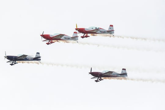 Skilled pilots perform high-flying, death-defying aerobatics Saturday, Nov. 3, 2018, during the Stuart Air Show at Witham Field airport in Stuart. The three day event features aerobatic acts and attractions, static aircraft displays, historical battle reenactments and weapons demonstrations, a kid's zone, fireworks, and more. The Stuart Air Show continues 9 a.m. to 5 p.m. on Sunday.