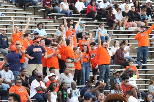 A small contingent of Miner fans traveled to Houston to watch UTEP face Rice.