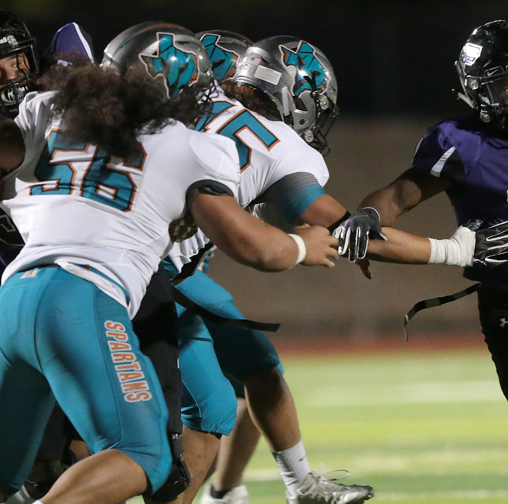 Franklin holds on for a 31-28 win over Pebble Hills Friday night at Franklin High School.