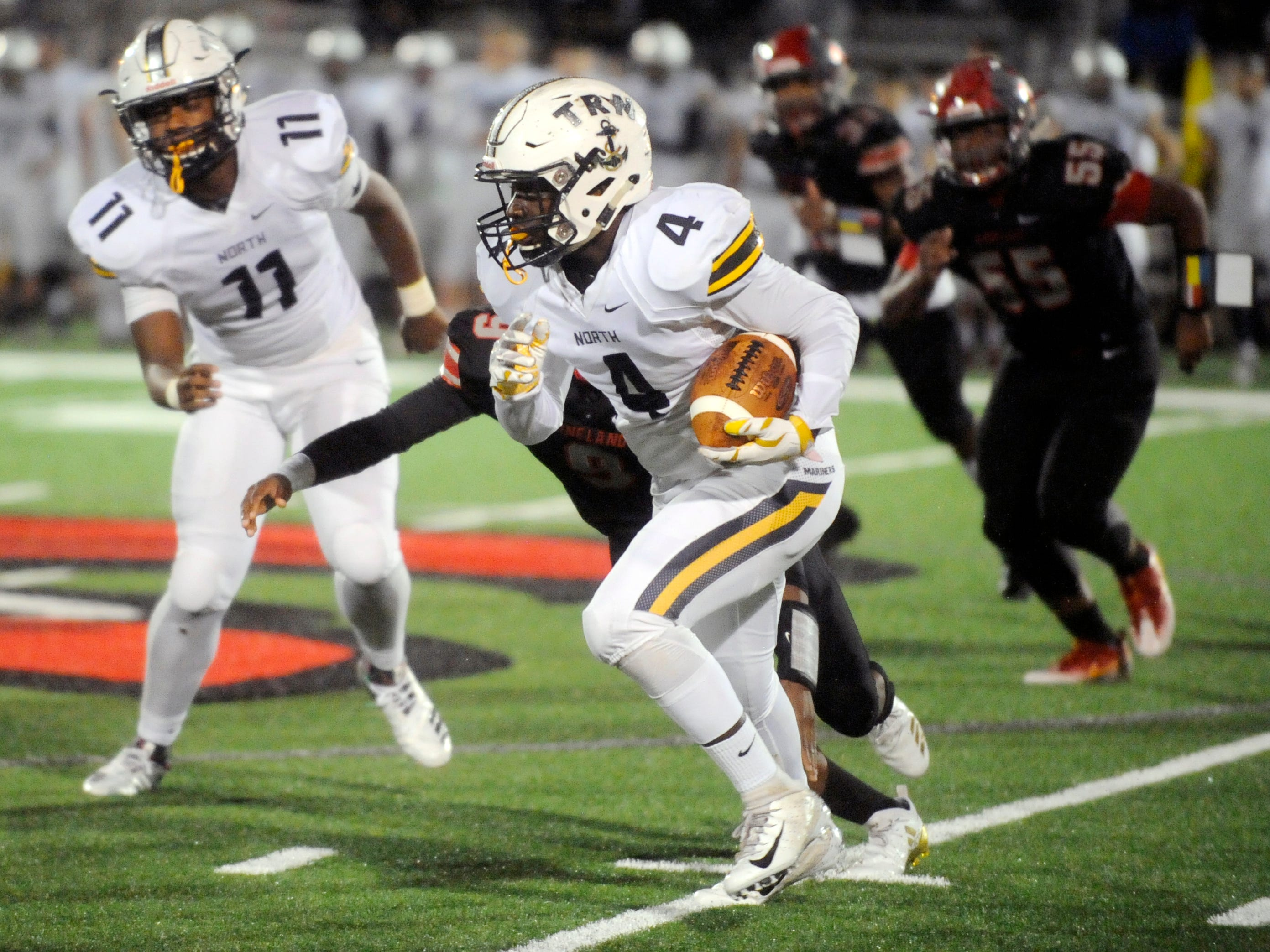 The Fighting Clan defeated visiting Toms River North in a South Jersey Group 5 playoff game. Vineland beat the Mariners at Gittone Stadium, 33-0, on Friday, November 2, 2018.