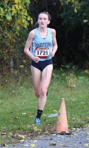 Mary Hennelly from Suffern placed first in the girls Section One Cross Country Class A Championships at Bowdoin Park in Wappingers Falls, Nov. 3, 2018.