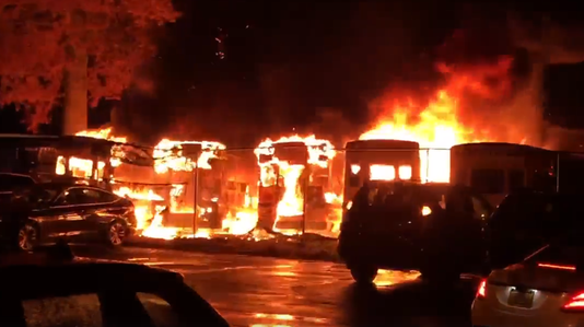 Armonk Bus Fire