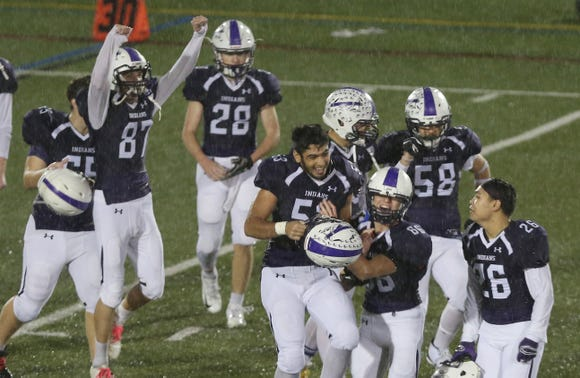 John Jay defeated Rye 21-14 to win the Section 1 championship at Mahopac High School Nov. 2,  2018.