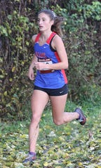 Katie Turk from Carmel placed third in the girls Section One Cross Country Class A Championships at Bowdoin Park in Wappingers Falls, Nov. 3, 2018.