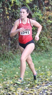 Haleigh Morales from North Rockland  placed second in the girls Section One Cross Country Class A Championships at Bowdoin Park in Wappingers Falls, Nov. 3, 2018.