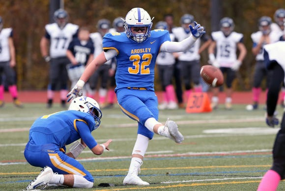 Ardsley defeated Putnam Valley 35-0 to win the Section 1 Class B championship game at Mahopac High School Nov. 2,  2018.
