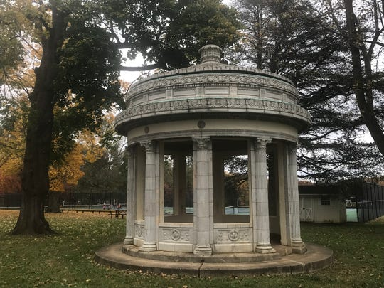 This Greek-style monument was once a Wilmington gas station from the 1920s. It was moved to Tatnall School in 1964 and it was almost razed in 1983.