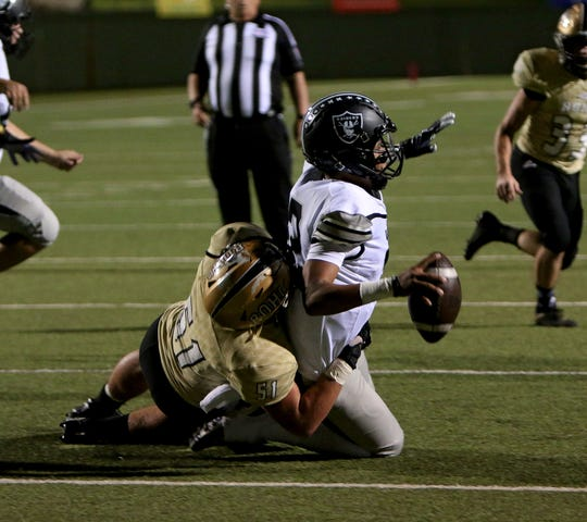 Rider senior Blake Stephenson has proven a valuable speed rusher from his defensive end spot.