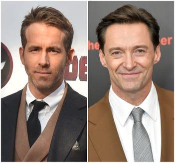 Ryan Reynolds and Hugh Jackman.