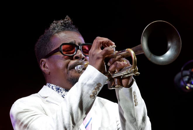 American jazz trumpeter Roy Hargrove performs at the Five Continents Jazz festival, in Marseille, southern France on July 26, 2018.