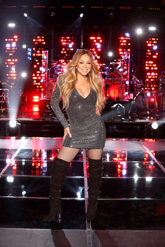 """Mariah Carey was a key adviser on """"The Voice."""" No one told her not to wear high heeled boots."""