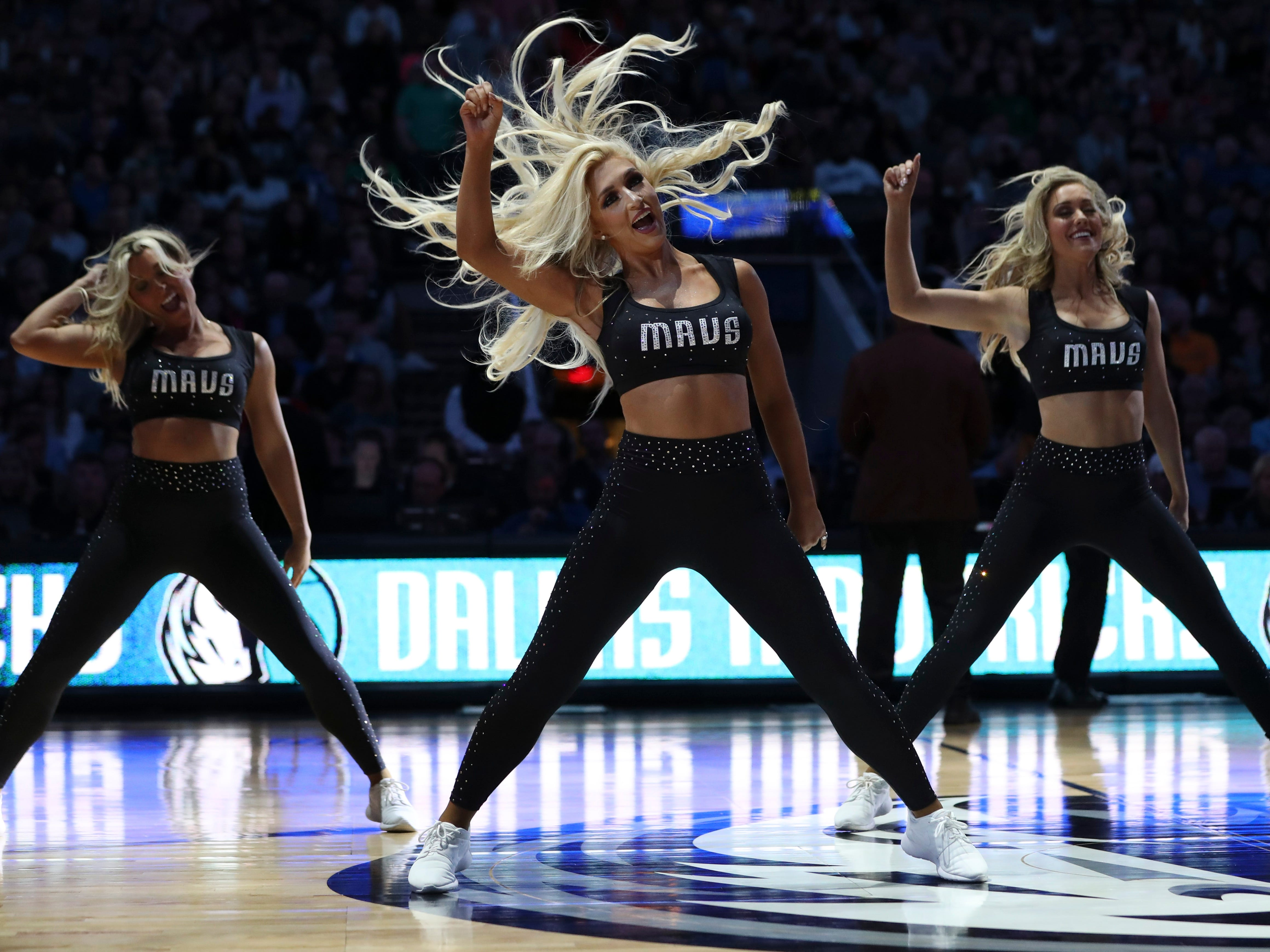 Nov. 2: Mavericks dancers perform during a game against the Knicks at American Airlines Center.