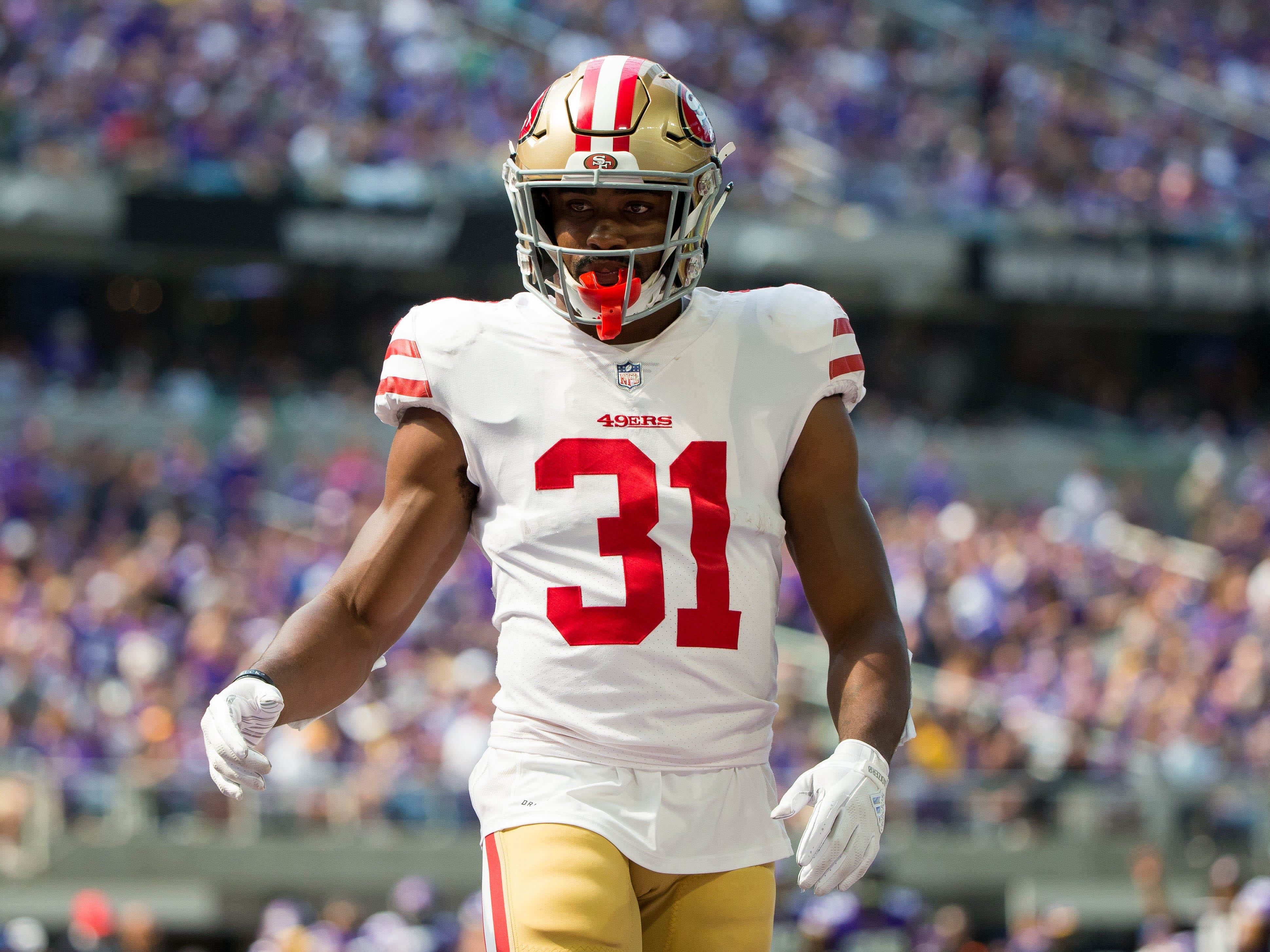 Raheem Mostert, RB, San Francisco 49ers (broken arm, out for season)