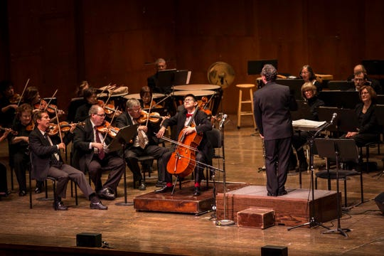 A recent addition to the Seattle Symphony's ranks, Nathan Chan (middle) already has impressed audiences around the country.