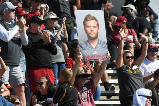 Florida Tech fans cheer during Saturday's game.