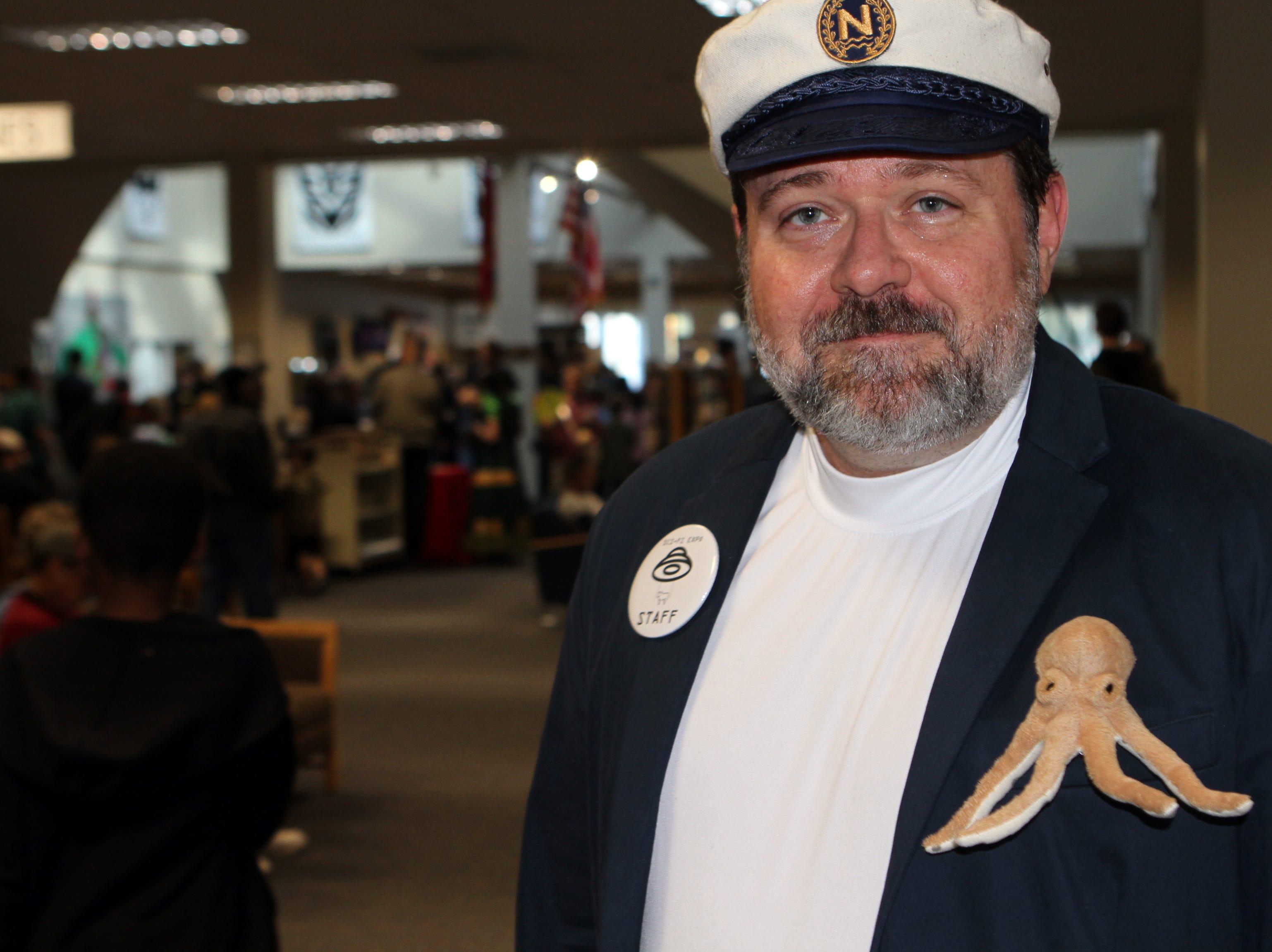 Derek Schaaf as Captain Nemo at CMC Public Library's annual Sci-Fi Expo on Saturday, November 3, 2018.