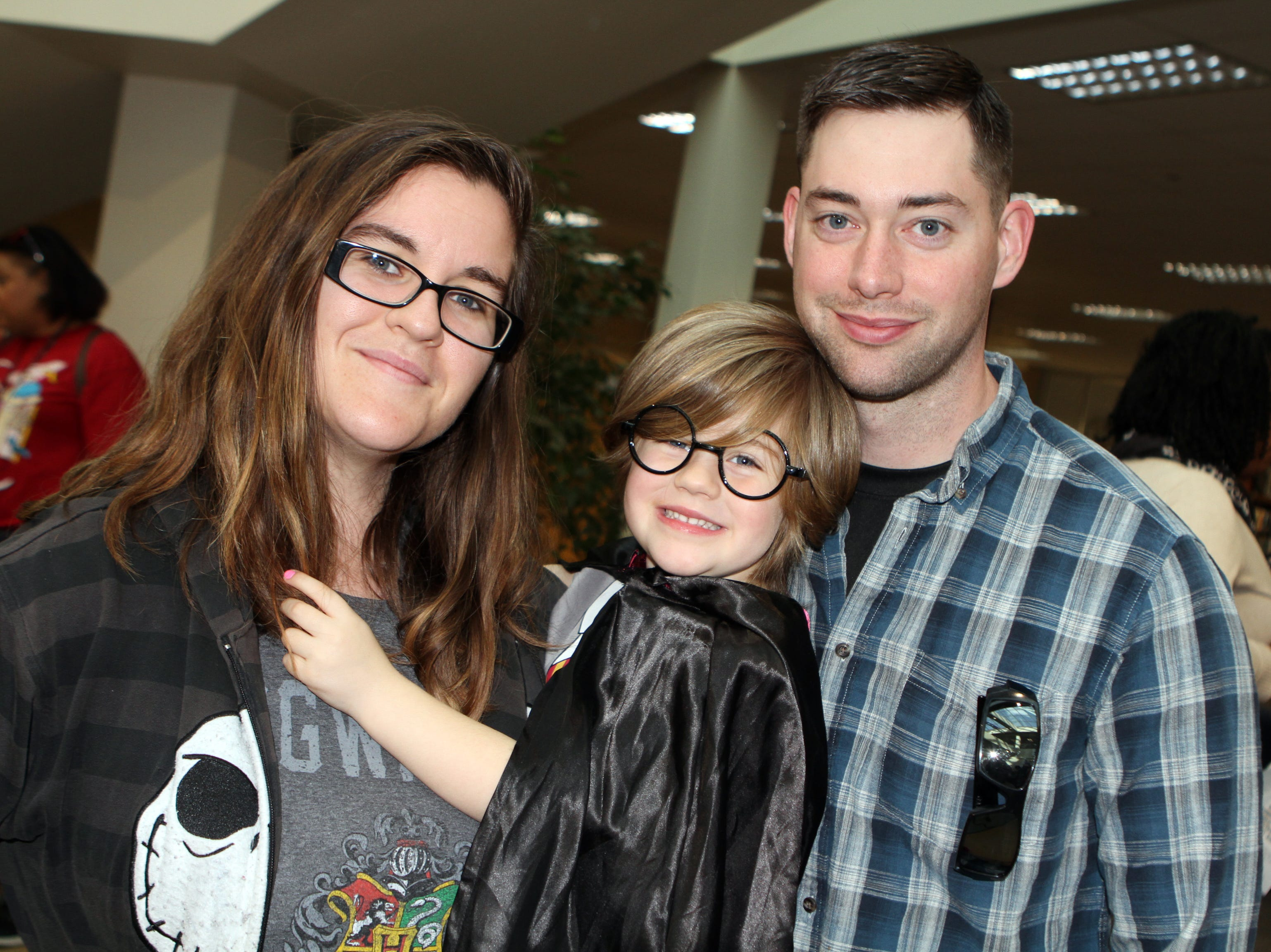 Brittany, Lily and Eric Lane at CMC Public Library's annual Sci-Fi Expo on Saturday, November 3, 2018.