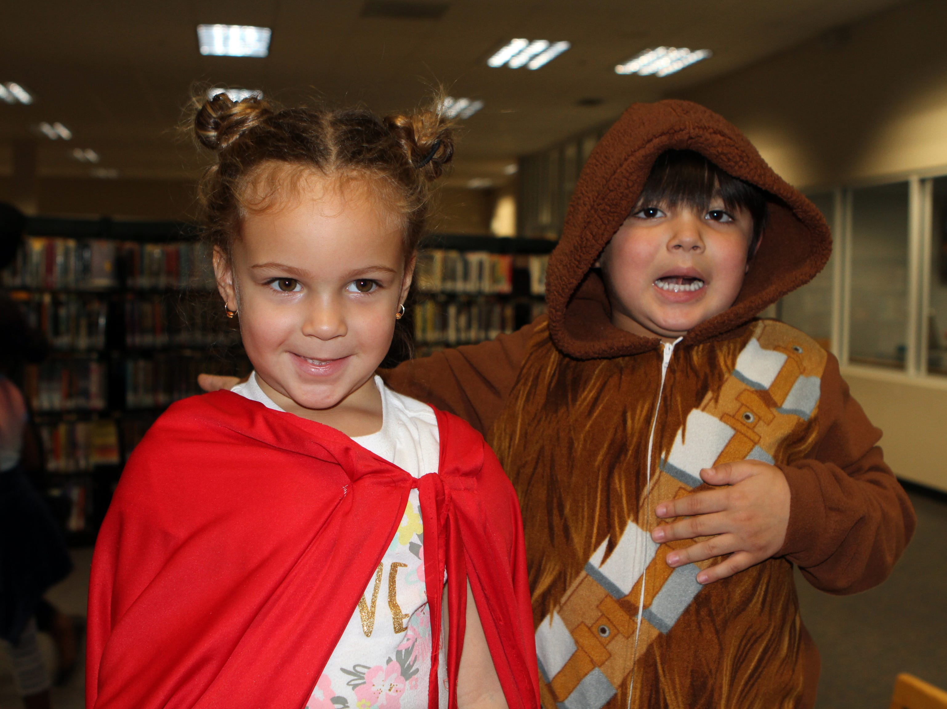 Jasmyn Chase and Joshua Franks at CMC Public Library's annual Sci-Fi Expo on Saturday, November 3, 2018.