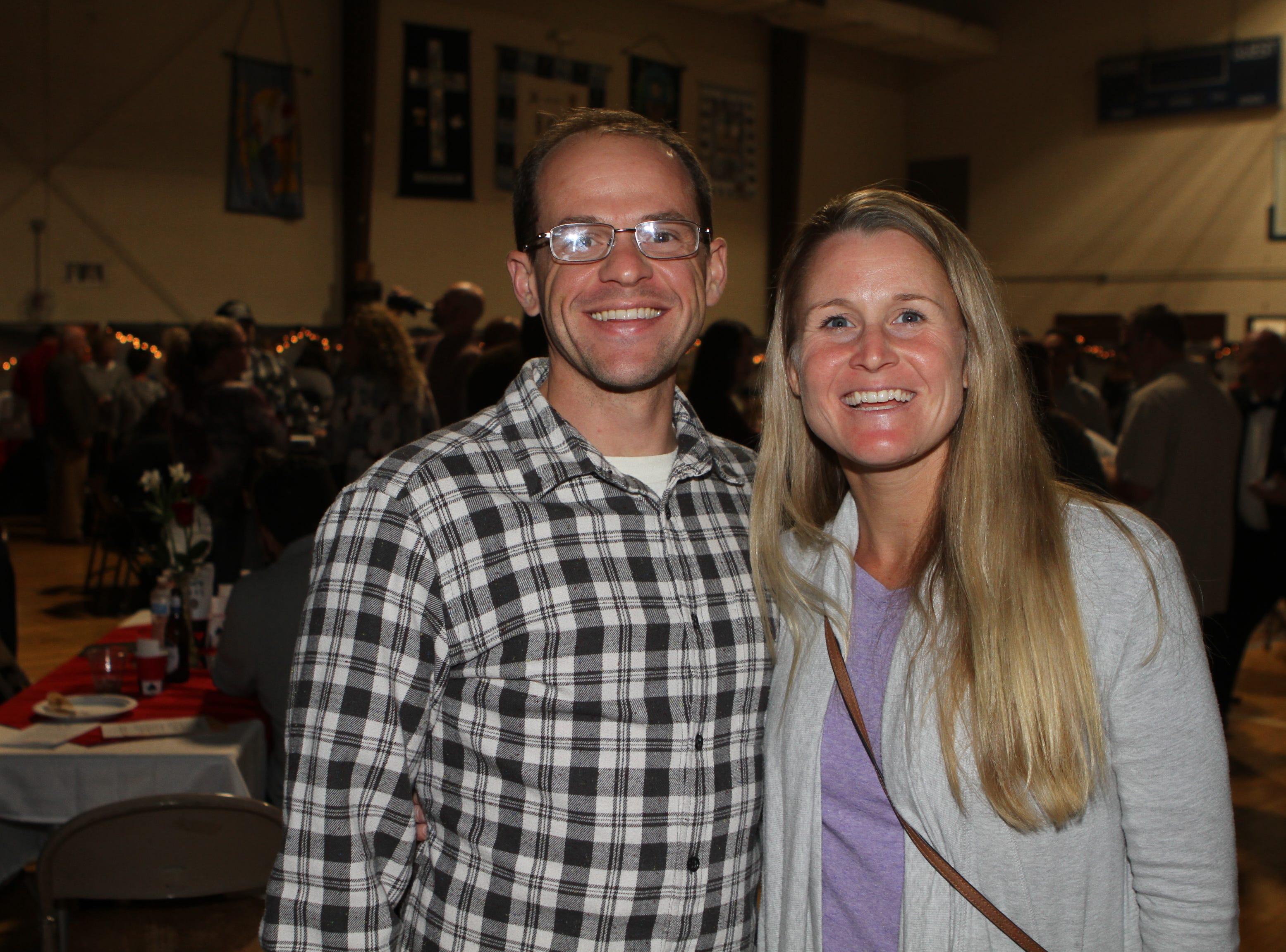 Josh and Kalea Lehman at Casino Night at Immaculate Conception School on Saturday, Nov. 3, 2018.