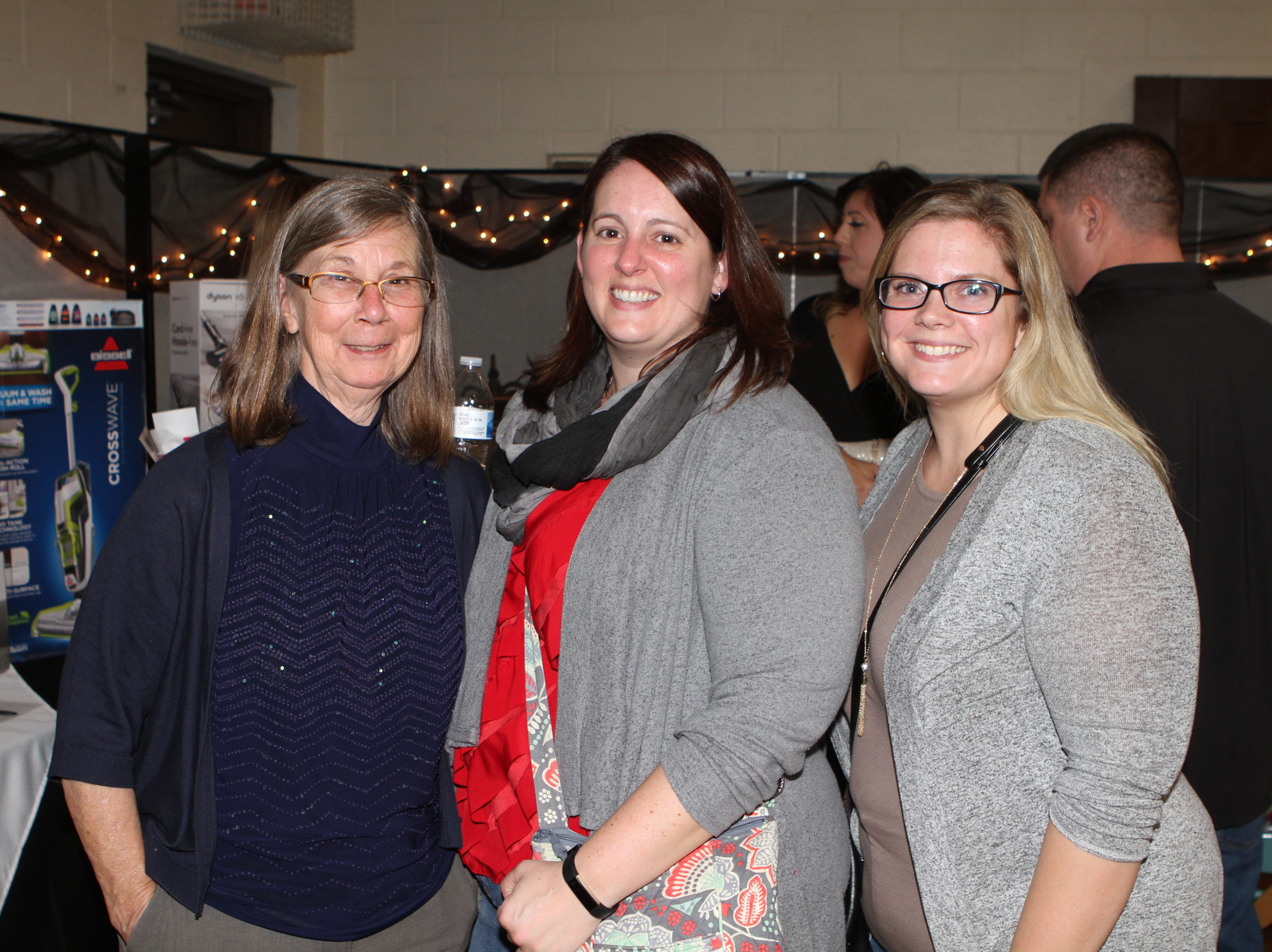 Joyce Downey, Kathy Kerchief and Ashley McIver at Casino Night at Immaculate Conception School on Saturday, Nov. 3, 2018.