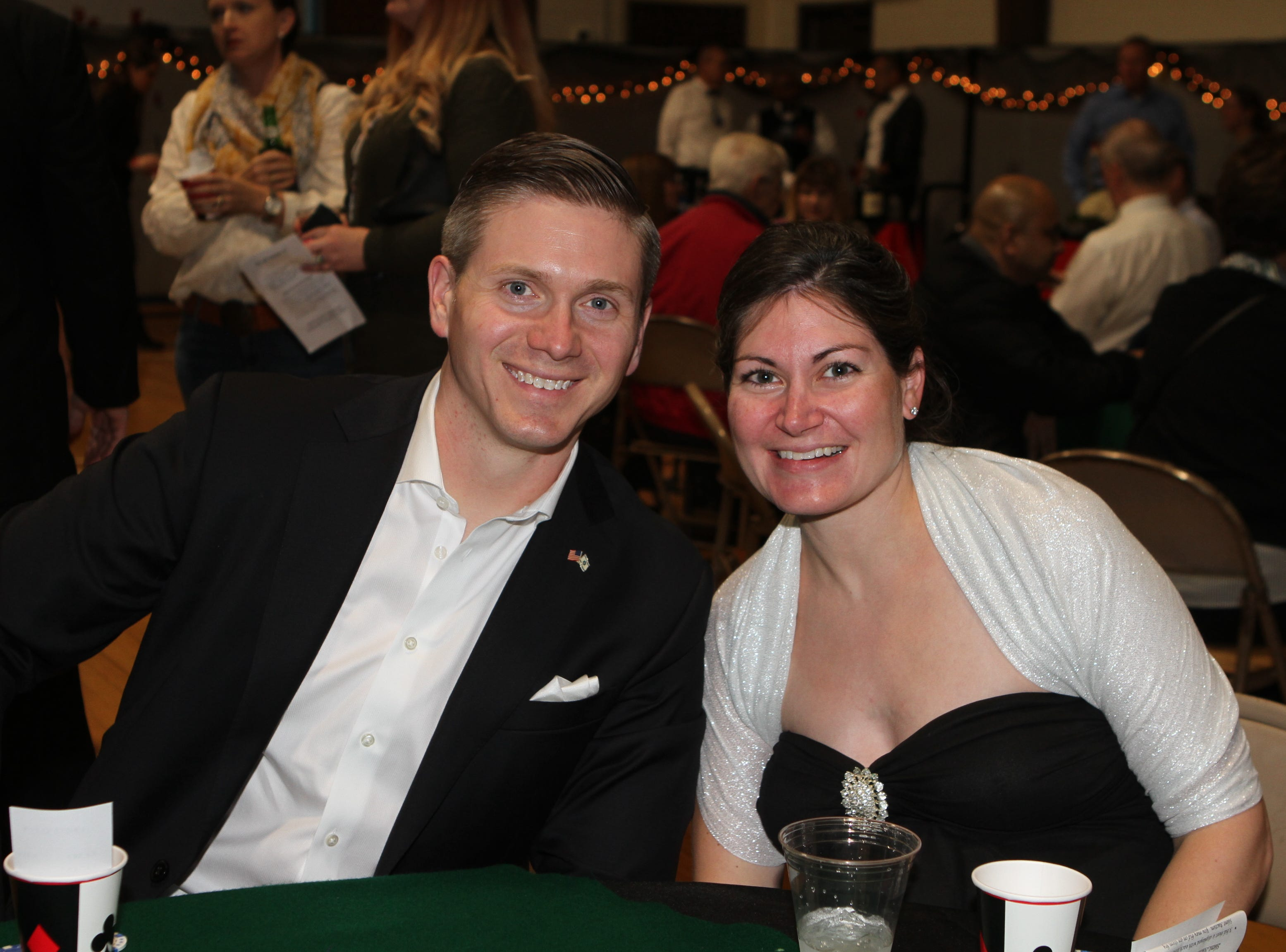 John and Sarah Toliver at Casino Night at Immaculate Conception School on Saturday, Nov. 3, 2018.