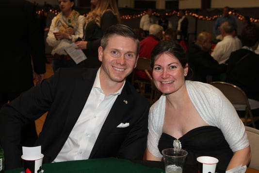 John And Sarah Toliver Enjoying Casino Night At Immaculate Conception School