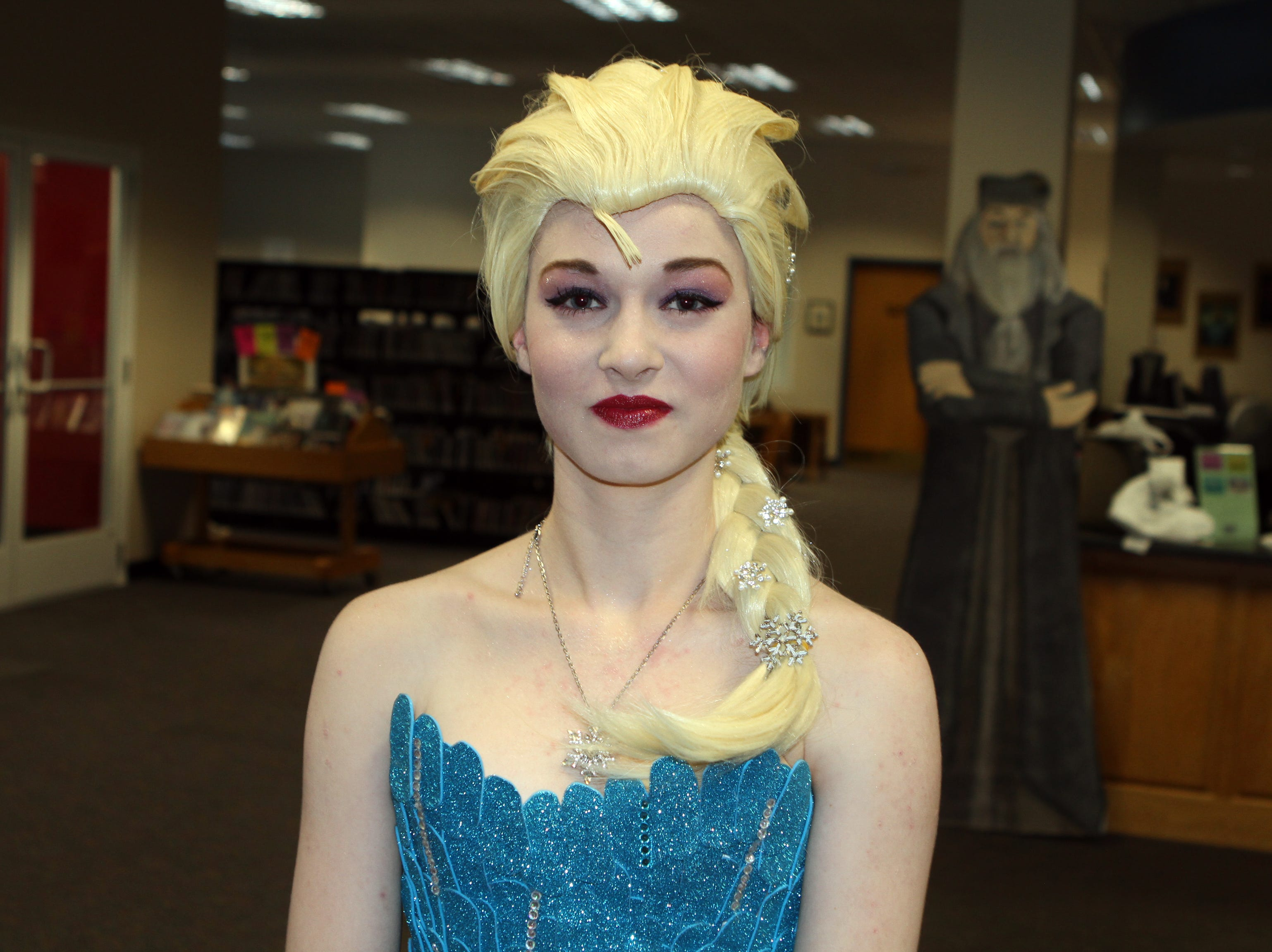 """Kayla Thompson as Elsa from """"Frozen"""" at CMC Public Library's annual Sci-Fi Expo on Saturday, November 3, 2018."""