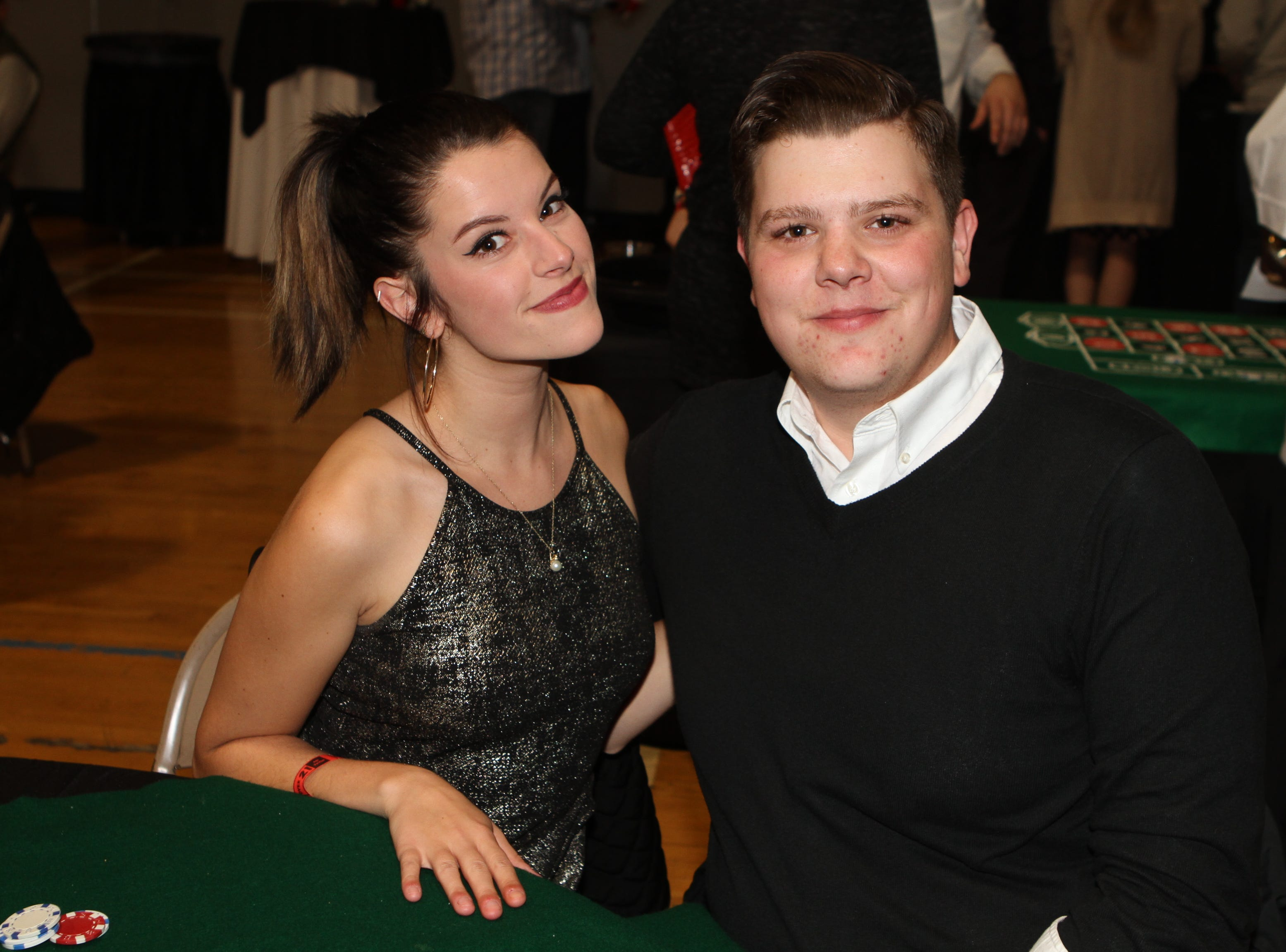 Phoebe Rozelle and T J Johnson at Casino Night at Immaculate Conception School on Saturday, Nov. 3, 2018.