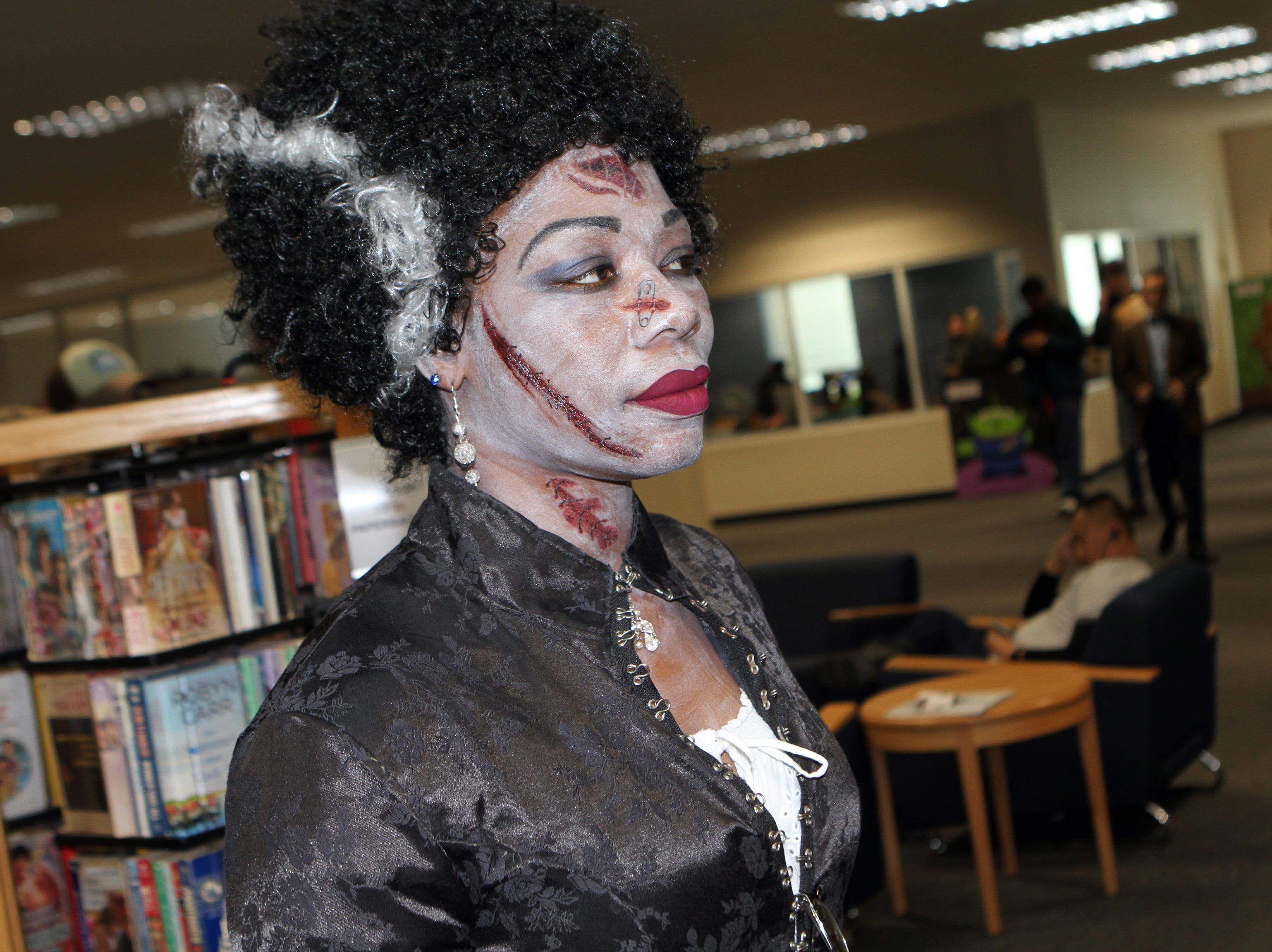 Kimberly Fleming as The Bride Of Frankenstein at CMC Public Library's annual Sci-Fi Expo on Saturday, November 3, 2018.