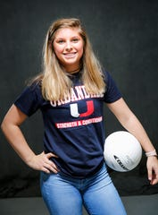 The Des Moines Register Elite all-CIML volleyball team member Sydney Smetzer of Urbandale Sunday, Nov. 4, 2018.