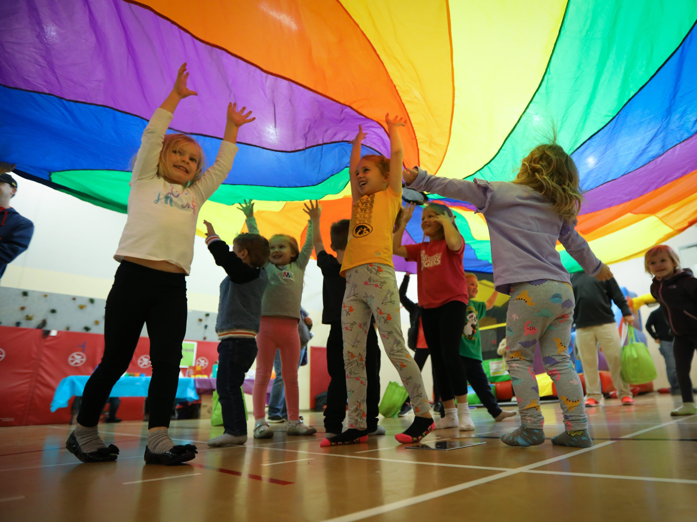 Preschoolers participate in the Preschool Palooza at Hillside Elementary School on Saturday, Nov. 3, 2018 in Des Moines, Iowa.