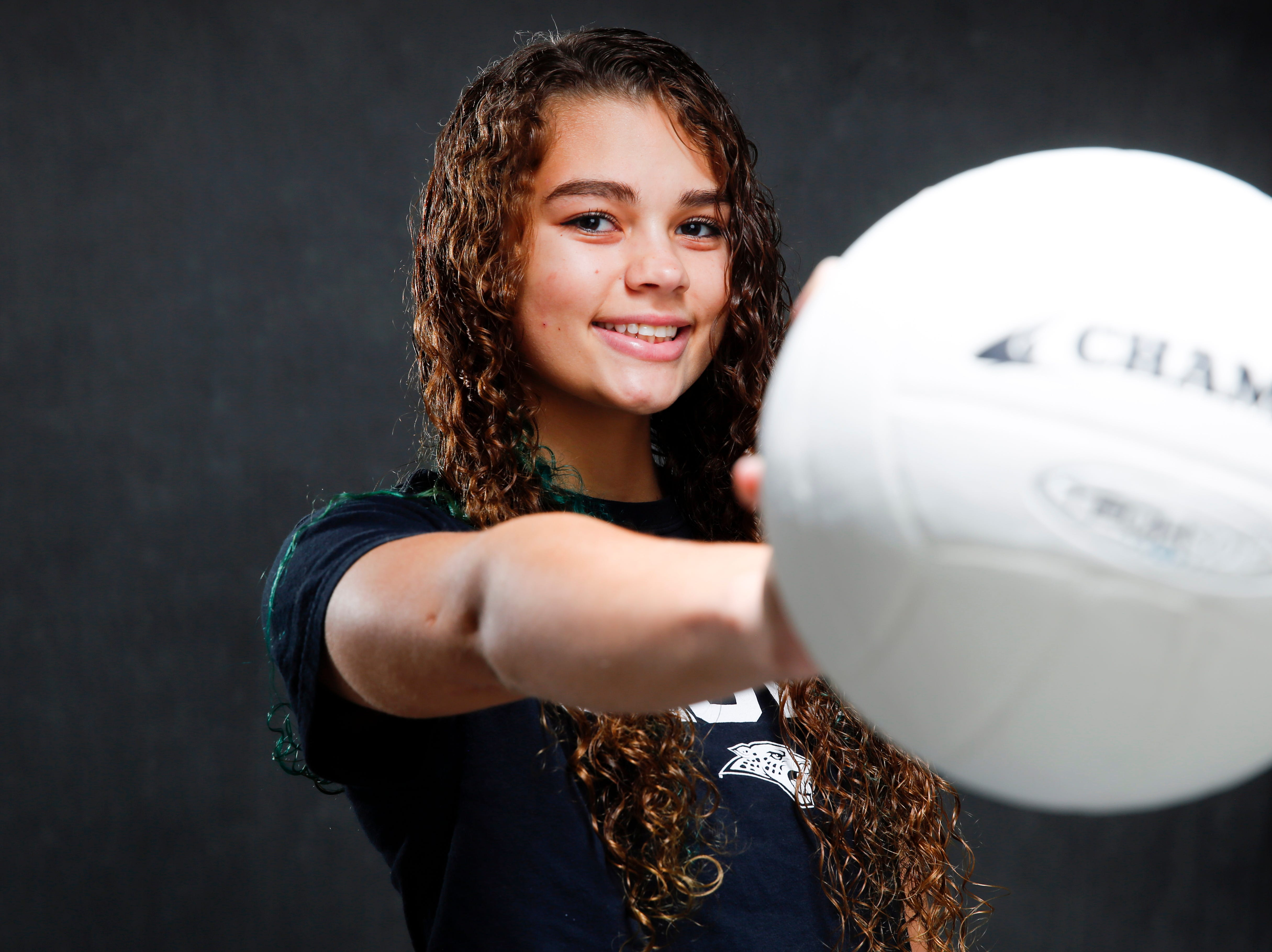 The Des Moines Register Elite all-CIML volleyball team member Ari Winters of Ankeny Centennial Sunday, Nov. 4, 2018.