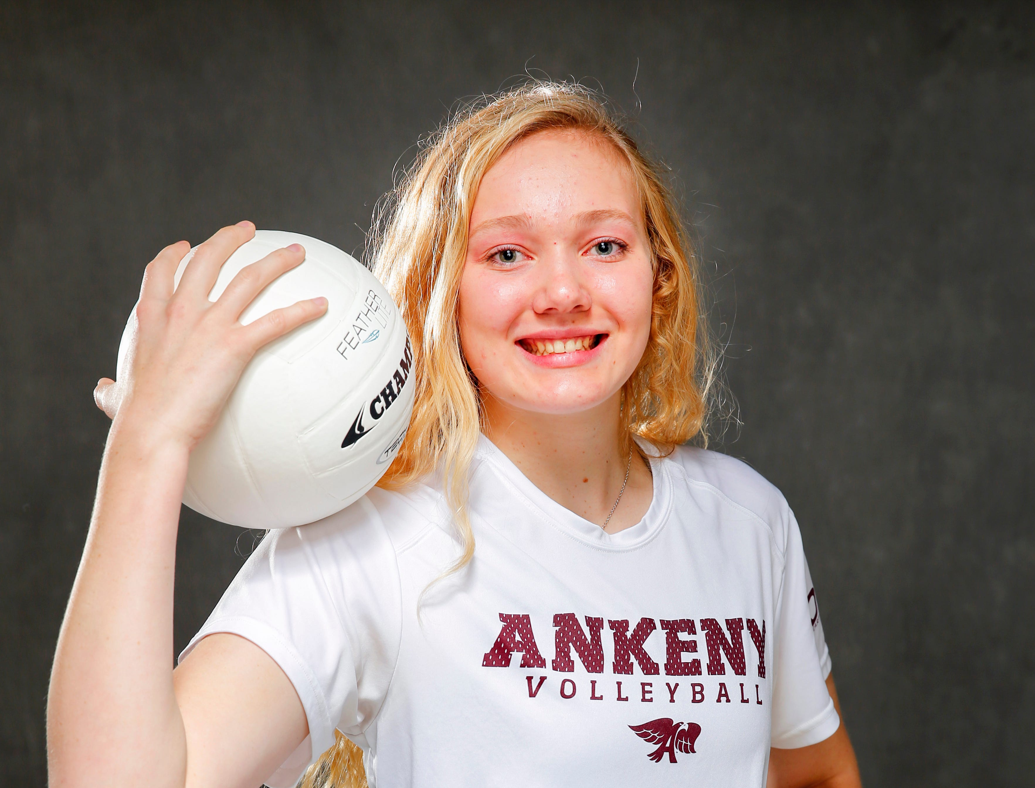 The Des Moines Register Elite all-CIML volleyball team member Phyona Schrader of Ankeny