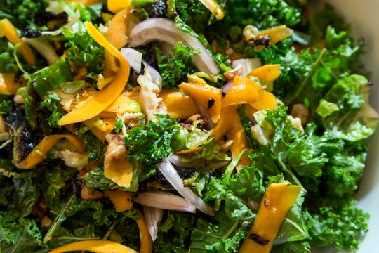 Kale, fennel and butternut squash salad.
