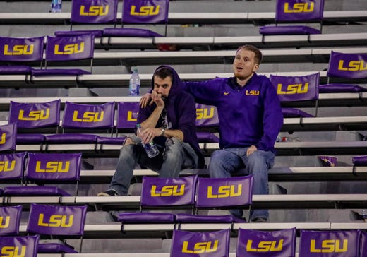 9. LSU (8-1) | Last game: Lost to Alabama, 29-0 | Previous ranking: 3