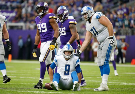 Sad Matthew Stafford, Rick Wagner, Sad Detroit Lions