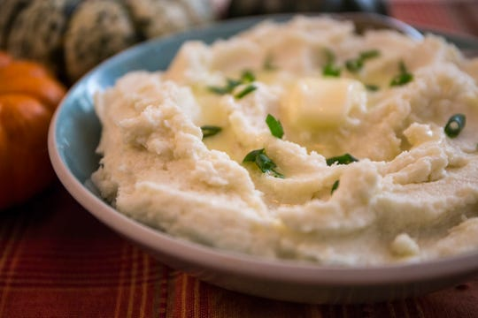 Creamy Keto cauliflower.