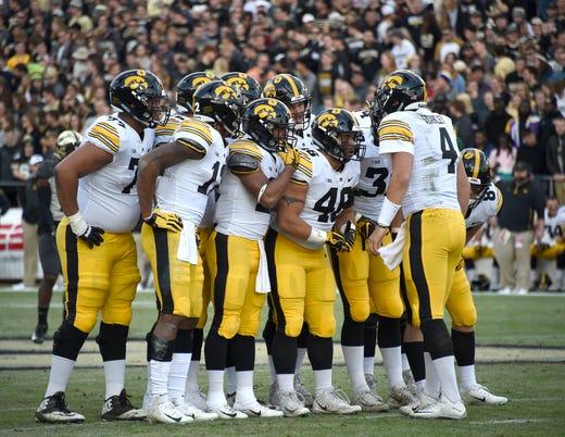 24. Iowa (6-3) | Last game: Lost to Purdue, 38-36 | Previous ranking: 24