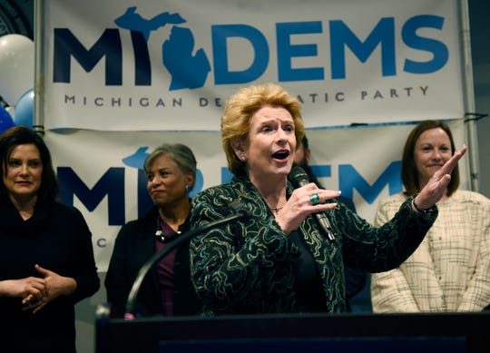 U.S. Senator Debbie Stabenow gave her remarks during the rally.  There will be a get-out-the-vote rally in Detroit with the major Democratic statewide candidates at IBEW Local 58. November 4, 2018, Detroit, MI.