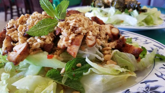Salad with grilled chicken from Vietnamese Cuisine on Vogel Road.
