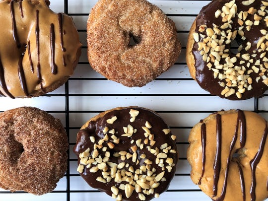Vegan donuts with no eggs or diary, soft, sweet and yummy, from Vegan Eats and Treats.