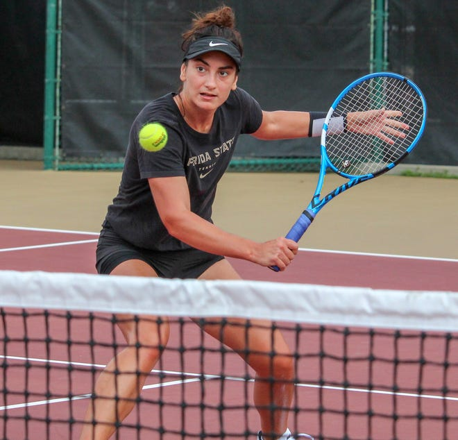 Women's tennis transfer Ana Oparenovic has already made an immediate impact for Florida State.
