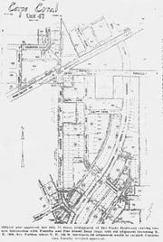 A map showing Del Prado Boulevard curving into Pondella Road was displayed in The News-Press in 1965.