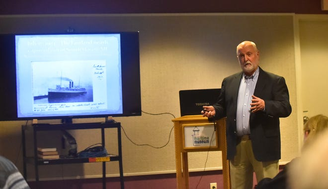 "The Door County Maritime Museum  launched its monthly Maritime Speaker Series with a presentation of the ill-fated ""SS Eastland'' by Todd Gordon on Nov. 1."